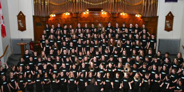 CCNS Choristers & Guest Conductor Stephen Hatfield